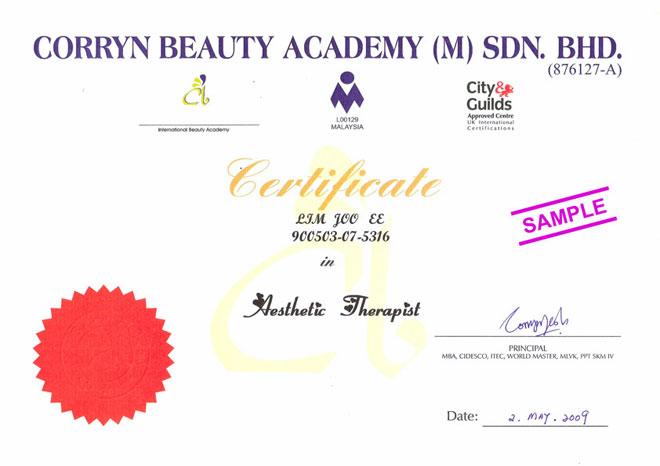 professional certificates corryn beauty academy